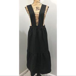 Black Jumper Dress with Ruffle Hem